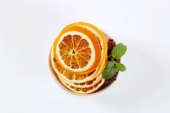 Dried oranges with spices Stock Image