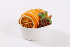 Dried oranges with spices Stock Photo