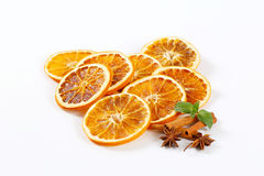 Dried oranges with spices Stock Images