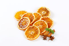Dried oranges with spices Royalty Free Stock Photo