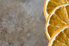 Dried Oranges on a Tray Stock Photography