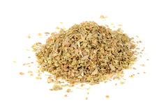 Dried Oregano Herb Isolated on White Background Stock Image