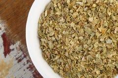 Dried oregano leaves Stock Photo