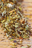 Dried oregano making approach Stock Image
