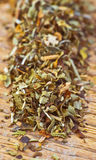 Dried oregano making approach Royalty Free Stock Photos