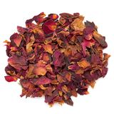 Dried Organic Damask Rose petals stock images