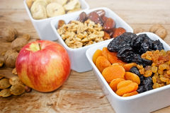 Dried organic fruits Stock Images