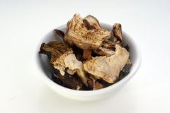 Dried organic porcini mushroom in a bowl Stock Photos