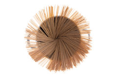 Dried organic spaghetti fanned in a pot Royalty Free Stock Photography