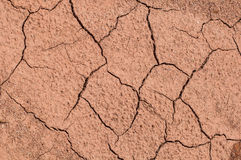 Dried out brown soil. Background royalty free stock image