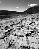 Dried Out Mud In Nature Stock Photo