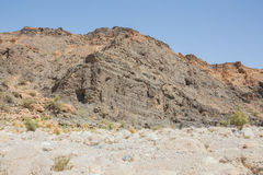 Dried out river bed in Wadi Al-Arbaeen Stock Photography
