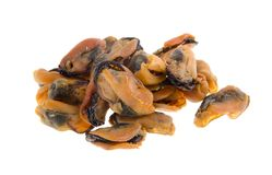 Chinese style sun dried oysters on background Royalty Free Stock Images