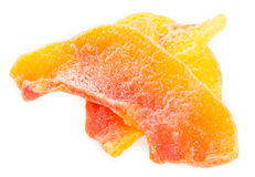 Dried papaya slices on background Royalty Free Stock Photography