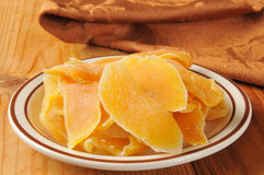 Dried papaya slices Stock Images