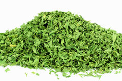 Dried Parsley Flakes. Ingredient for food Dried Parsley flakes Royalty Free Stock Image