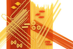 Dried Pasta Abstract Background Royalty Free Stock Photo