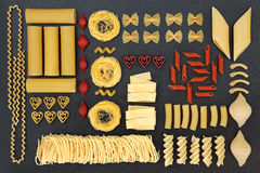 Dried Pasta Abstract Sampler Stock Photo