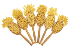 Dried Pasta Types Royalty Free Stock Images