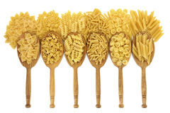 Dried Pasta Varieties Stock Photos