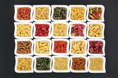 Dried Pasta Varieties Royalty Free Stock Photography