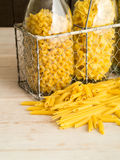 Dried Pasta in a variety of shapes Stock Photo