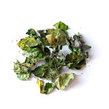 Dried patchouli leaves on white Stock Photo