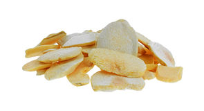Dried Peach Chip Snack Food Stock Images