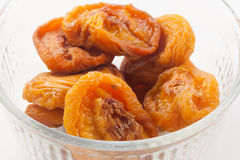 Dried Peaches in bowl Stock Image