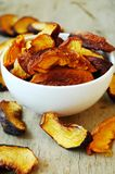 Dried peaches royalty free stock photography