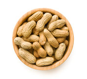 Dried peanuts in bowl Stock Image