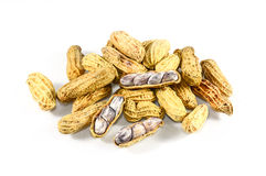 Dried peanuts in closeup Stock Photography