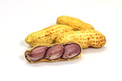 Dried peanuts in closeup Royalty Free Stock Images