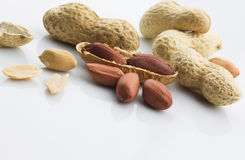 Dried peanuts Stock Photo