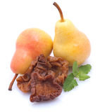 Dried pears. On white ground Stock Photography