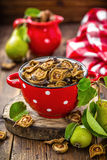 Dried pears Royalty Free Stock Images
