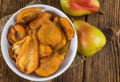 Dried Pears (selective Focus) Royalty Free Stock Images