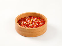 Dried pepper and salt Royalty Free Stock Images