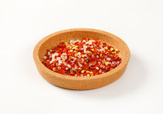 Dried pepper and salt Stock Photography