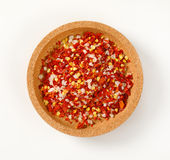 Dried pepper and salt Stock Photo
