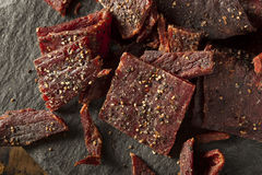 Dried Peppered Beef Jerky Stock Photos