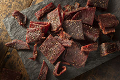 Dried Peppered Beef Jerky Stock Photography
