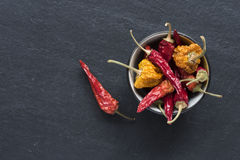 Dried Peppers Stock Images