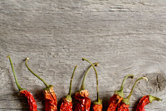 The dried peppers closeup Royalty Free Stock Photos