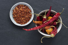 Dried Peppers and Seeds Stock Photos