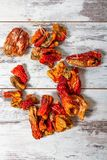 Dried Peppers for stuffing Dolma Stock Image