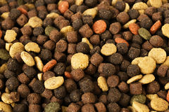 Dried pet food for dog or cat background.  Stock Photo