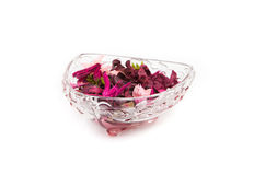 Dried petals in a bowl. Cute Dried petals in a bowl Royalty Free Stock Images