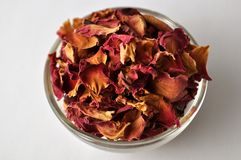 Dried petals of rose Stock Photos