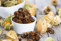 Dried Physalis Fruits stock photo